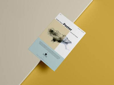 Free Paper Poster Mockup
