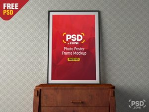 Free Photo Poster Frame Mockup