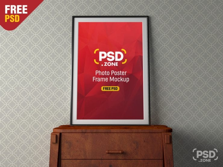 Free Photo Poster Frame Mockup