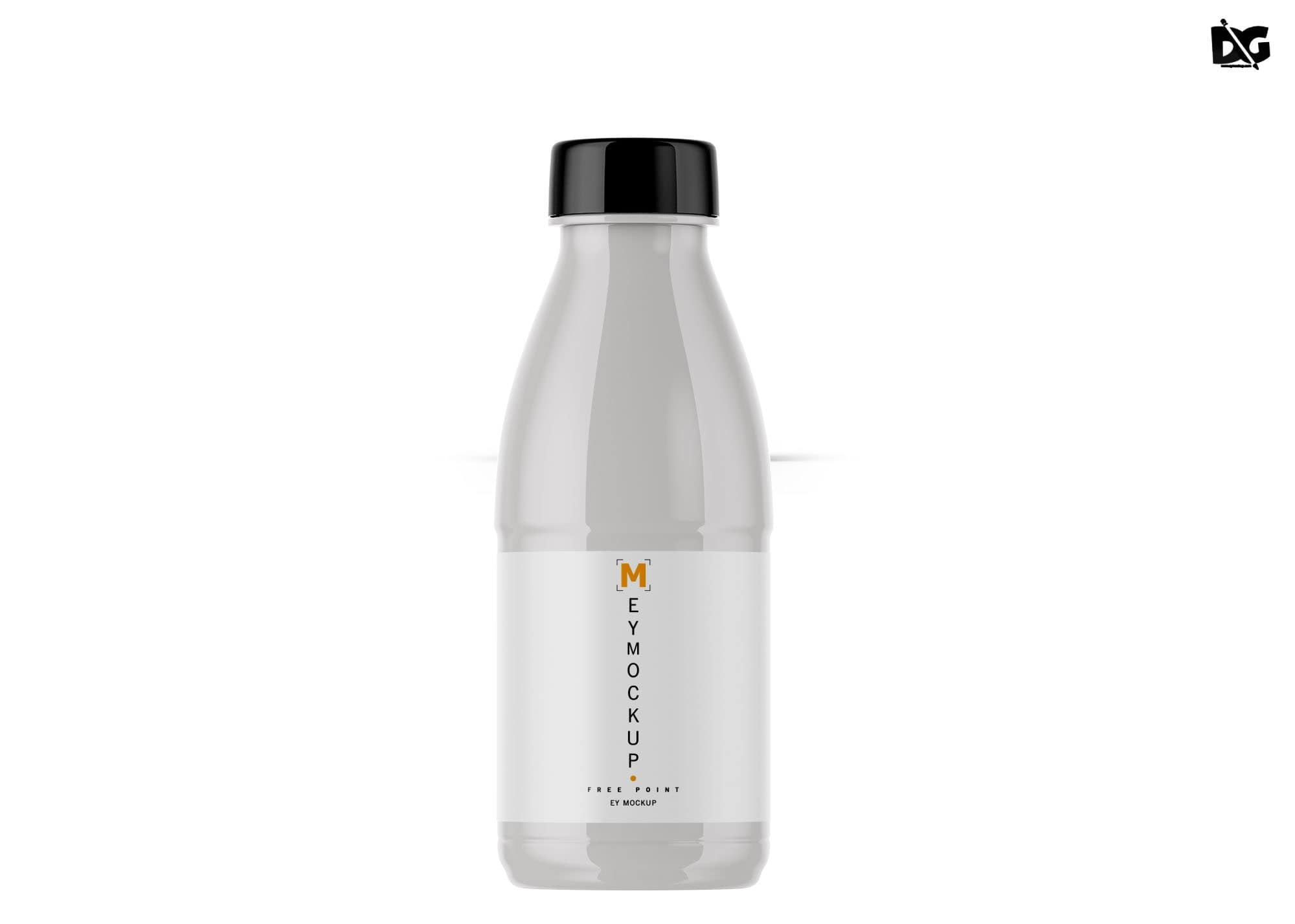 Free Plastic Milk Bottle Mockup
