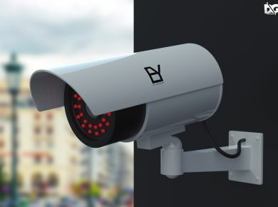 Free Security Camera Mockup