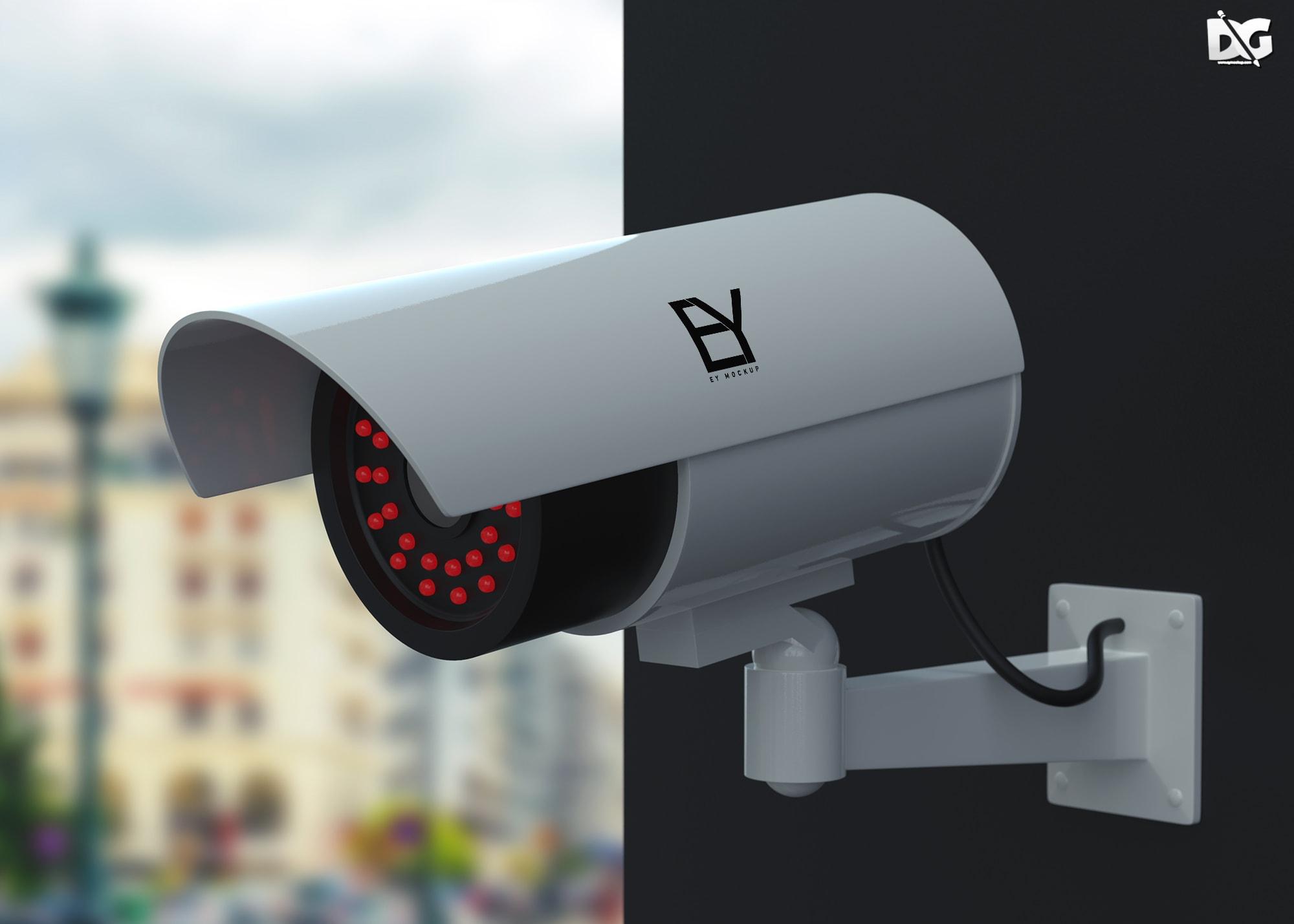 Free Security Camera Mockup
