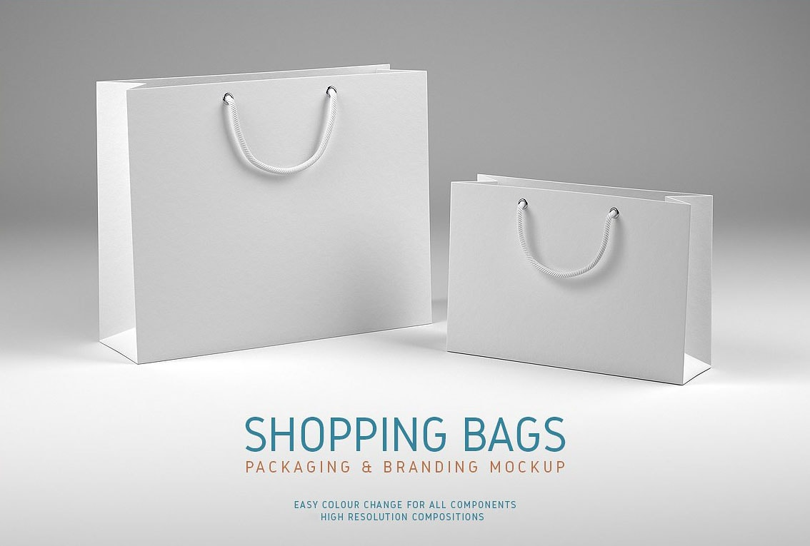 Free Shopping Bags Mock-ups