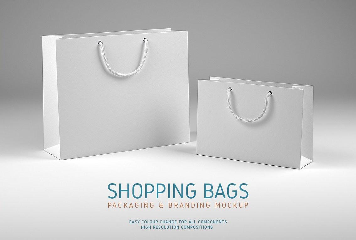 Free Shopping Bags Mock-ups