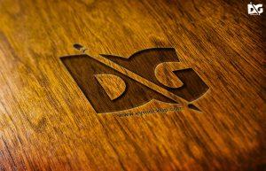 Free Tilt Press Wood Logo Mock-up