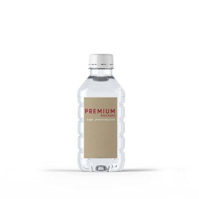 Free Transparent Water Bottle Mockup