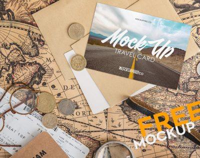 Free Travel Card Mockups