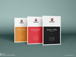 Free Vertical Business Cards Mockups