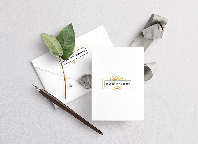 Free Wedding Stationery Mockups Set