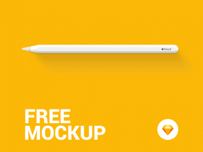 Free iPad Apple Pencil Mockup