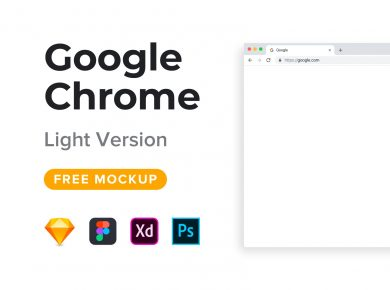 Google Chrome Free Mockup