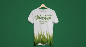 Free Hanging T-Shirt Mock-up