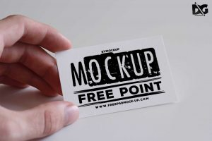 Hand Helded Business Card Free Mockups