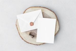 Invitation Card & Envelope Free Mockups