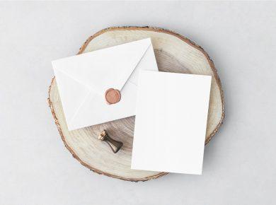 Invitation Card & Envelope Free Mockups