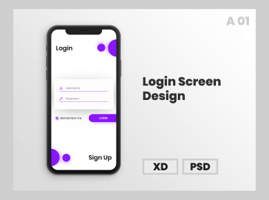 Login Screen Free Mock-up