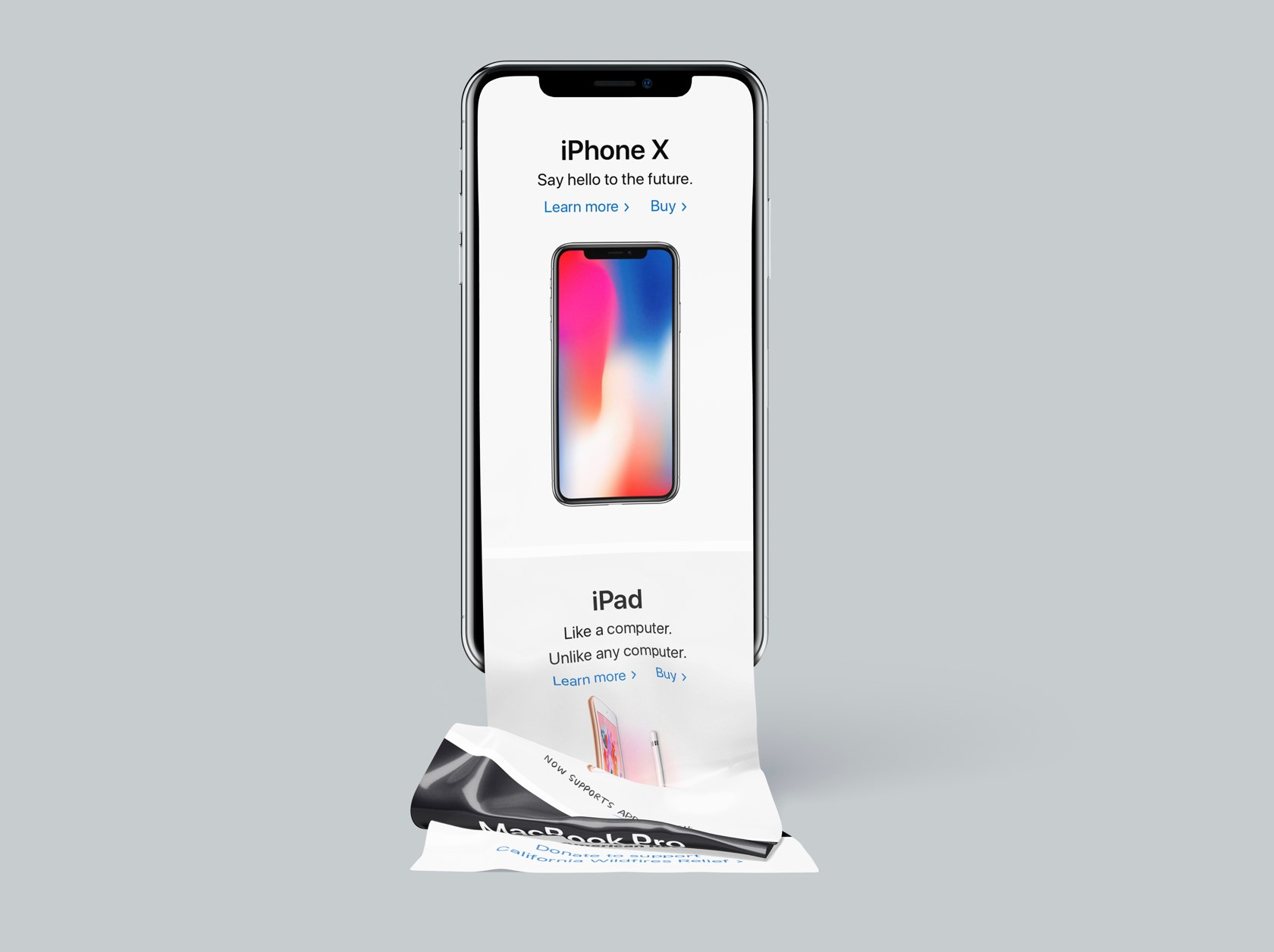Long Scroll iPhone X Free Mockup
