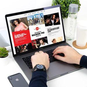 Man Working on MacBook Pro Free Mockup