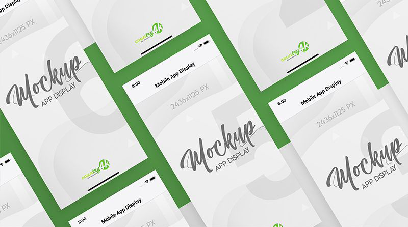 Mobile App Display Free Mockup