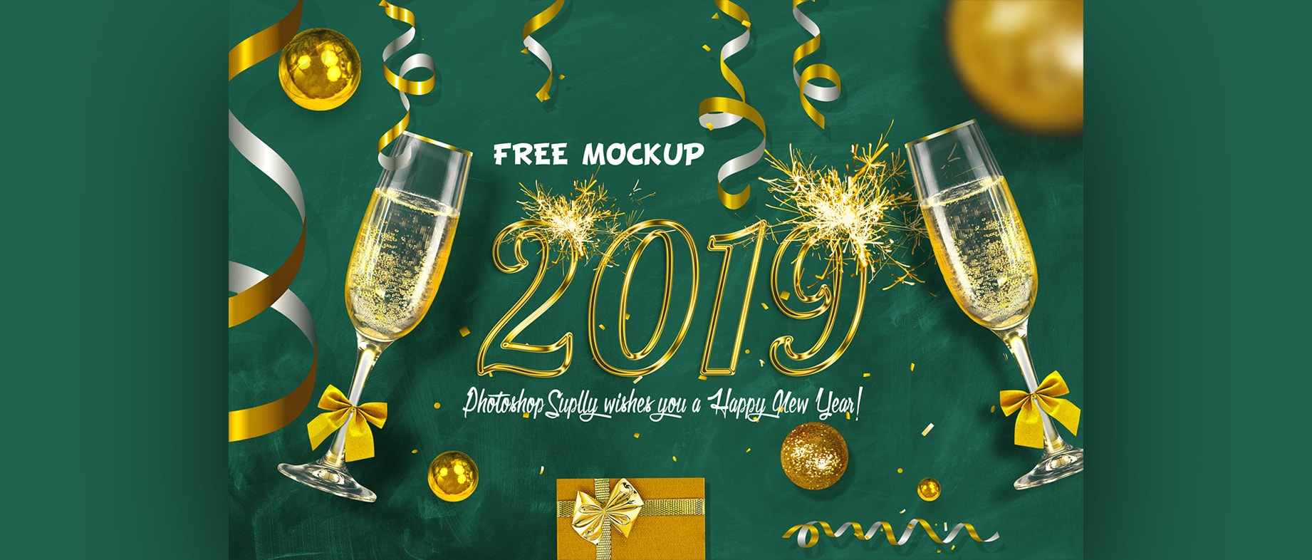 New Year Eve Free Scene Mockup