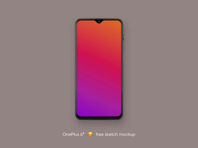 OnePlus 6t Free Sketch Mockup