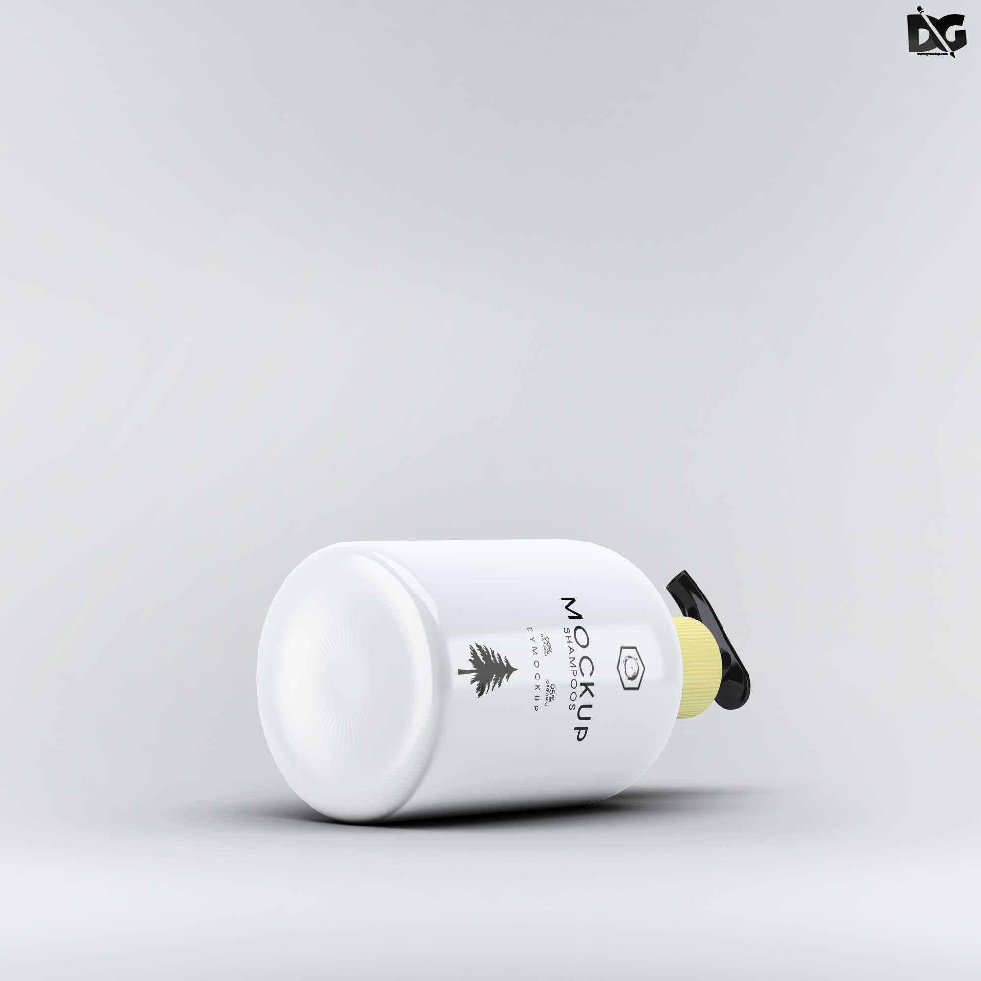 Soap Dispenser Bottle Free Mockup