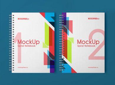 Spiral Notebook Free Mockups
