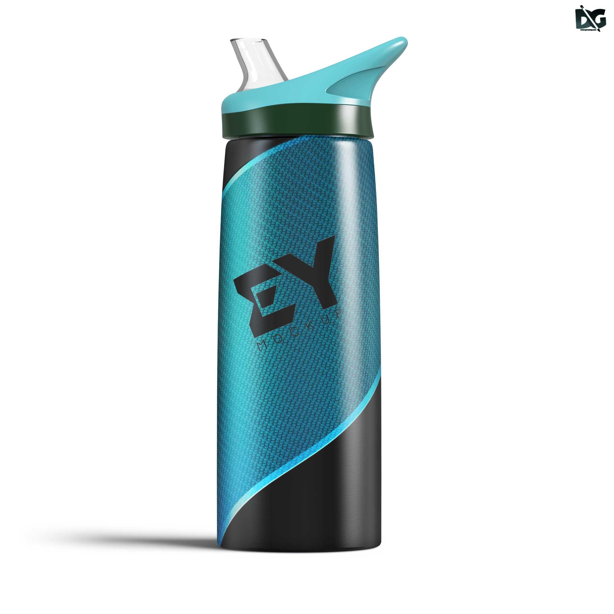 Sports Water Bottle Free Mock-up