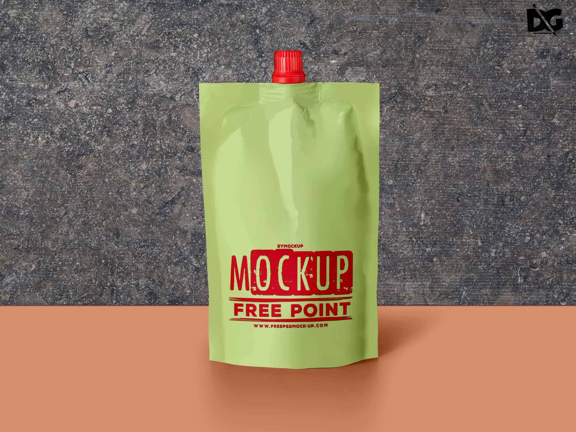 Spout Pouch Label Free Mockup