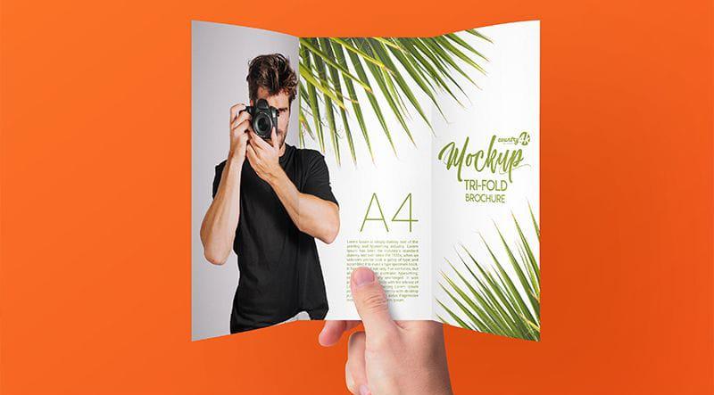 Tri-Fold Brochure Free Mockups
