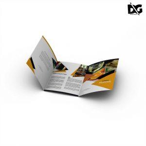 US Letter Tri-Fold Brochure Free Mockup