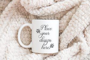 Winter Coffee Mug Free Mockup