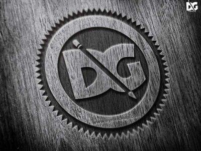 Wood Cutout Logo Free Mockup