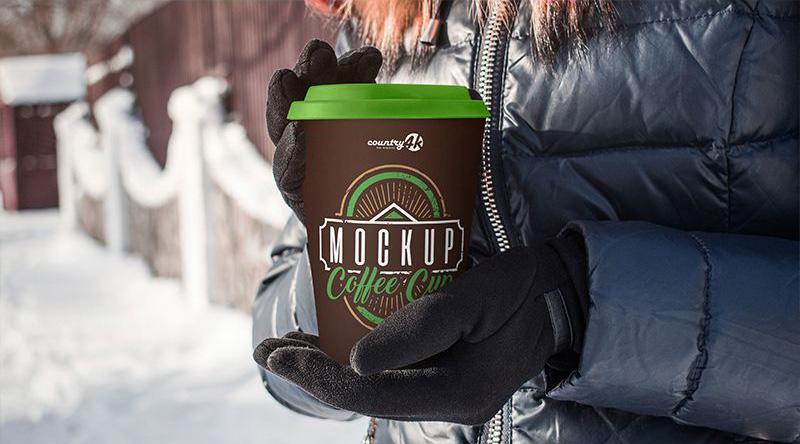 2 Free Coffee Cups Mockup