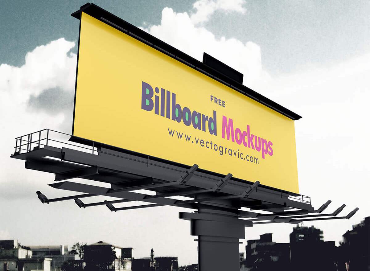 Bundle: 3 Free Advertisement Billboard Mockups
