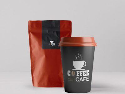 Free Coffee Packaging & Paper Cup Mockups