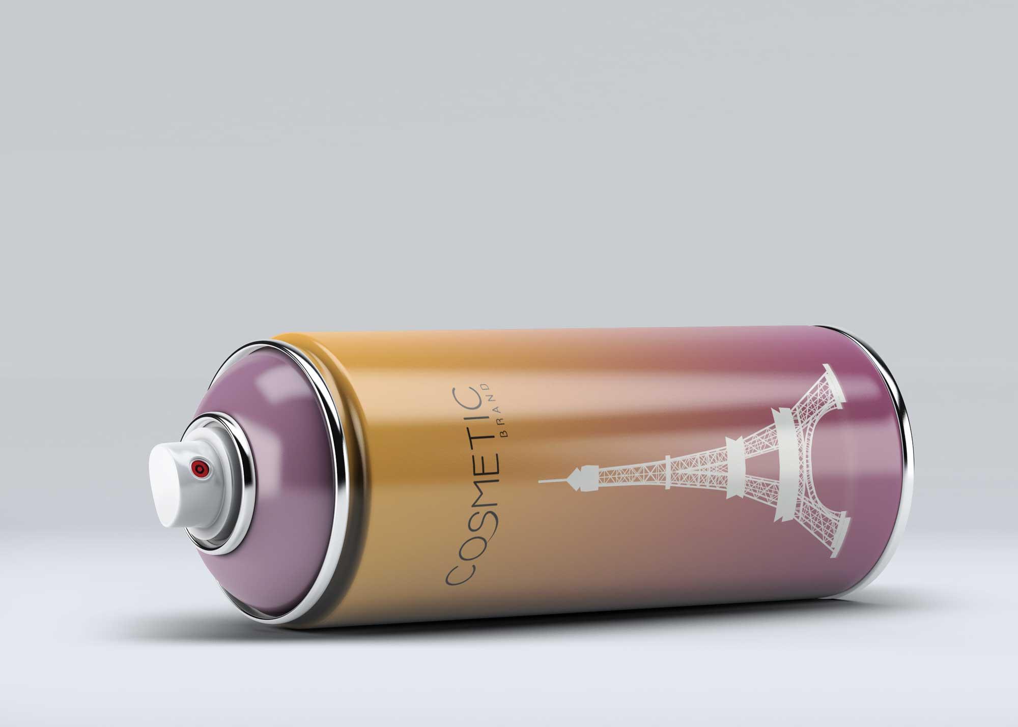 Free Colored Spray Bottle Mockup