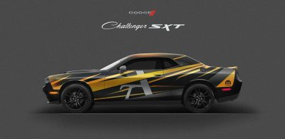 Free Dodge Challenger Car Wrap Mockup