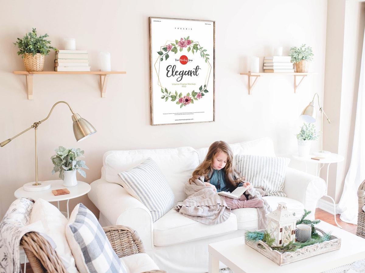 Free Elegant Room Interior Frame Mockup
