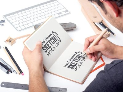 Free Hand Drawn Sketch Mockup