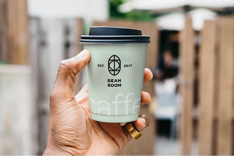 Free Hand Holding Cup Mockup