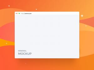 Free Minimal Browser Mockup