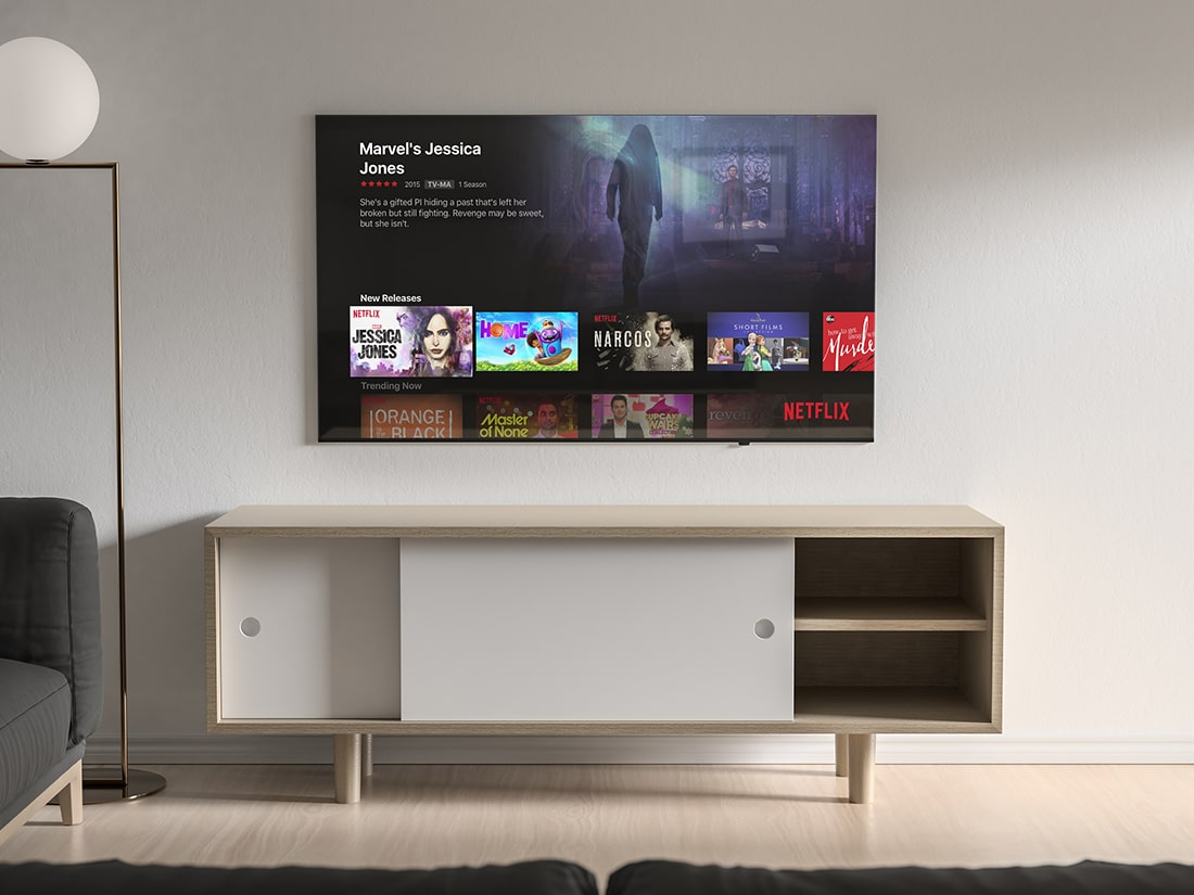 Free Modern TV Mock-up