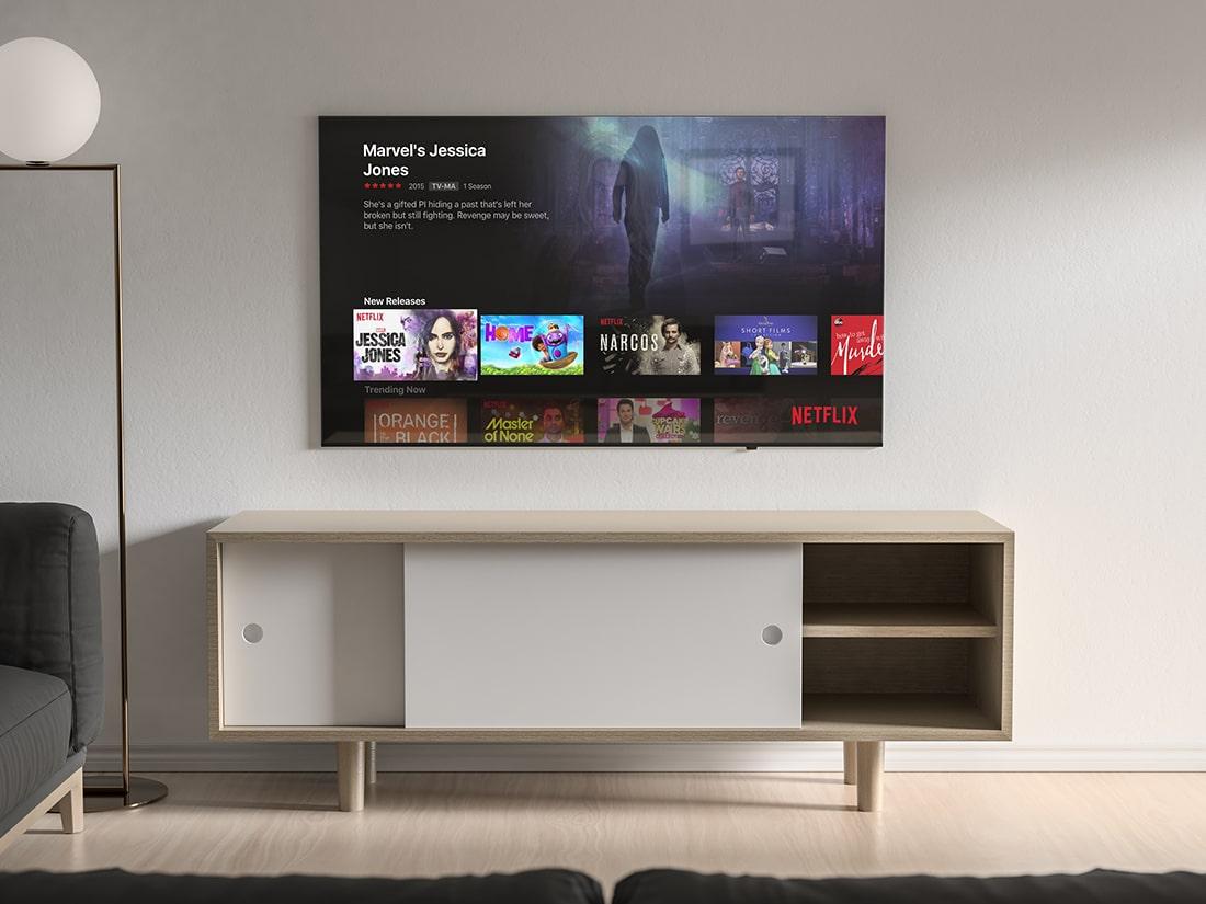 Free Modern TV Mock-up