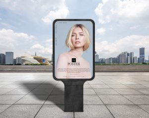 Free Outdoor Advertisement Poster Mockup