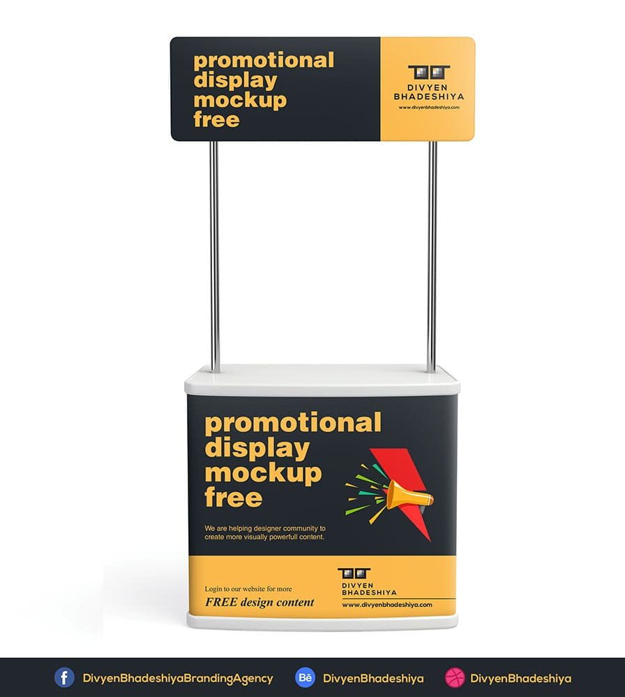 Free Promotional Shelf Display Mockup