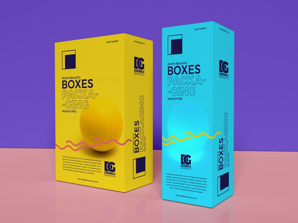 Free Realistic Boxes Packaging Mock-ups
