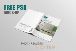 Free Realistic Brochure Mockup