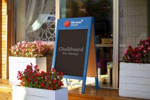 Free Restaurant Chalkboard Mockup