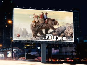 Free Roadside Outdoor Advertisement Billboard Mockup